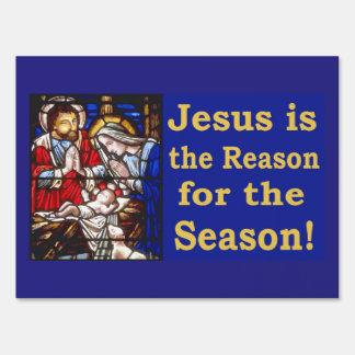 Jesús es la razón de la estación letrero