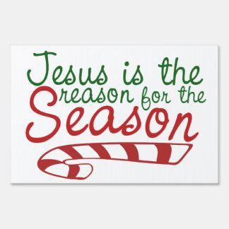 Jesús es la razón de la estación letreros