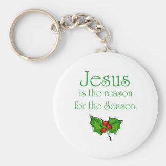 Jesús es la razón de la estación llavero redondo tipo pin