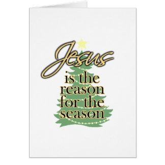 Jesús es la razón de la estación navidad felicitación