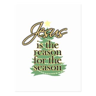 Jesús es la razón de la estación navidad tarjeta postal