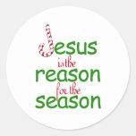 Jesús es la razón de la estación pegatinas redondas