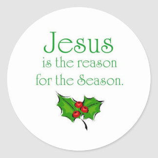 Jesús es la razón de la estación pegatina redonda
