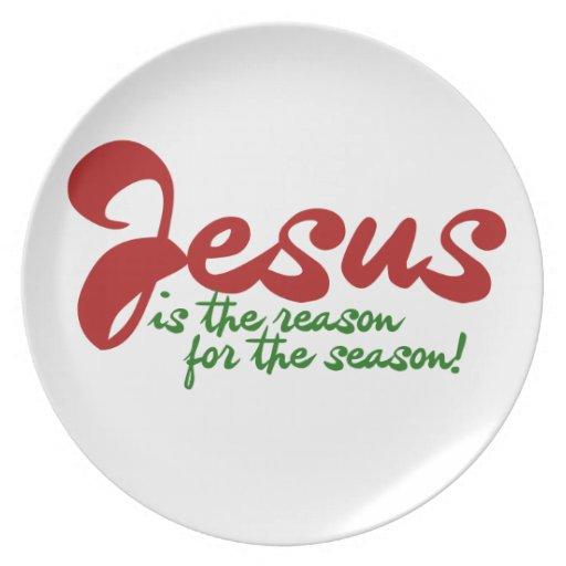Jesús es la razón de la estación platos de comidas