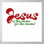Jesús es la razón de la estación poster
