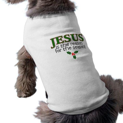 Jesús es la razón de la estación camiseta de mascota