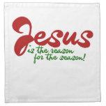 Jesús es la razón de la estación servilleta de papel