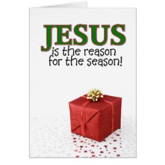 Jesús es la razón de la estación tarjeta de felicitación