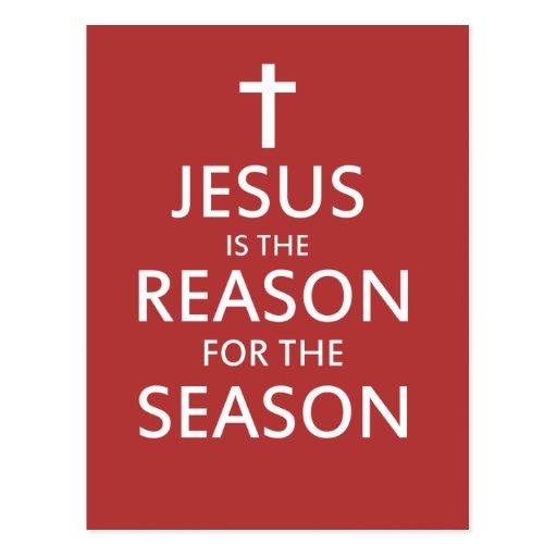 Jesús es la razón de la estación tarjeta postal
