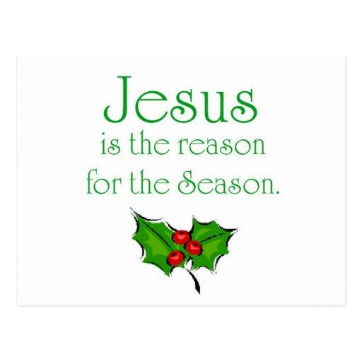 Jesús es la razón de la estación tarjetas postales