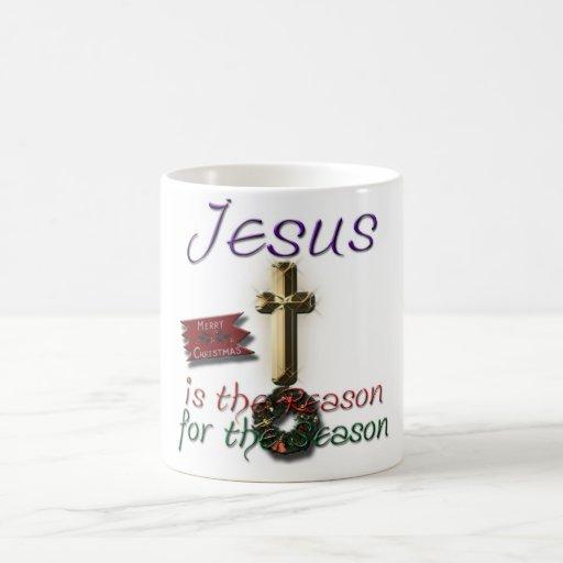 Jesús es la razón de la taza de la estación