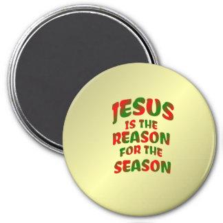 Jesús es la razón de los imanes de la estación imán redondo 7 cm