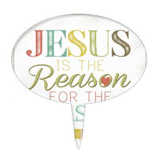 Jesús es la razón decoraciones para tartas