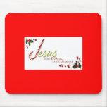Jesús es la razón del cojín de ratón de la estació alfombrilla de raton