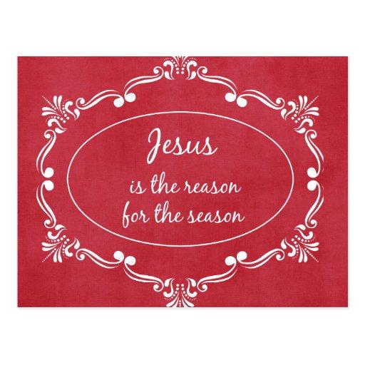 Jesús es la razón del navidad de la estación postales