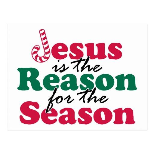 Jesús es la razón tarjeta postal