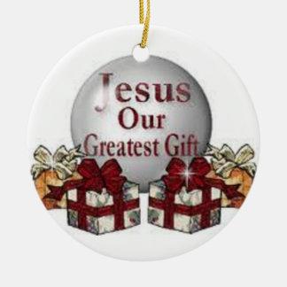 Jesús es la razón verdadera de la estación del adorno redondo de cerámica