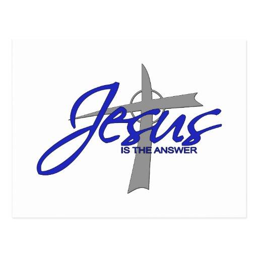 Jesús es la respuesta postales
