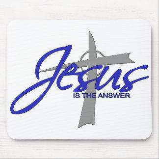 Jesús es la respuesta alfombrilla de ratón