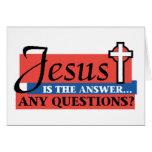 Jesús es la respuesta tarjetas