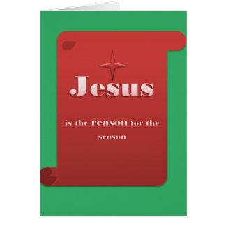 Jesús es la tarjeta de felicitación de la razón