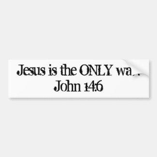 Jesús es la ÚNICA manera. 14:6 de Juan Pegatina Para Auto