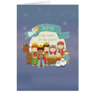 """""""Jesús es las tarjetas de Navidad de la natividad"""