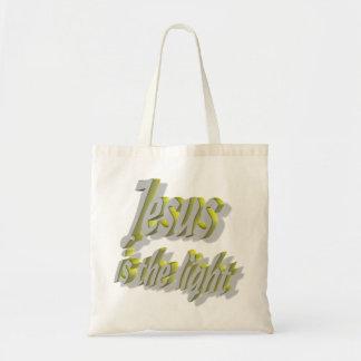 Jesús es los lignes 3D de la luz 2 Bolsa
