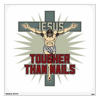 Jesús es más duro que clavos vinilo adhesivo