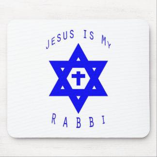 Jesús es mi cojín de ratón del rabino alfombrilla de ratones