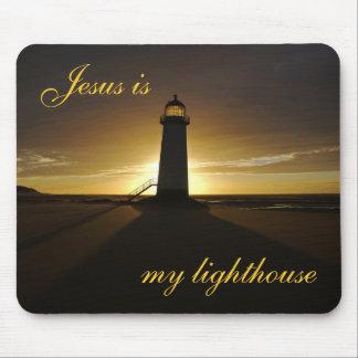 Jesús es mi faro mousepad