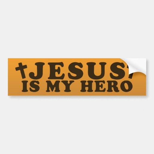 Jesús es mi héroe pegatina de parachoque