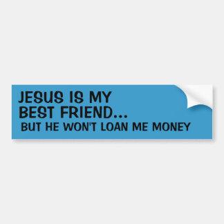 Jesús es mi mejor amigo… pegatina para auto