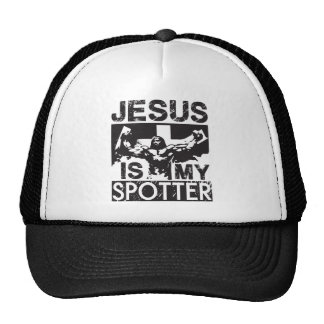 Jesús es mi observador de tiro gorros bordados