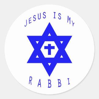 Jesús es mi pegatina del rabino