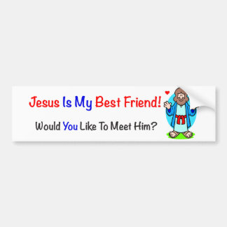 Jesús es mi pegatina para el parachoques del mejor etiqueta de parachoque