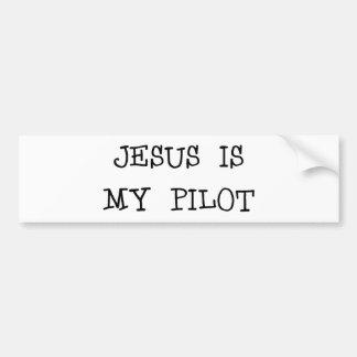 Jesús es mi piloto pegatina de parachoque