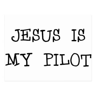 Jesús es mi piloto tarjeta postal