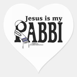 Jesús es mi RABINO Pegatina En Forma De Corazón
