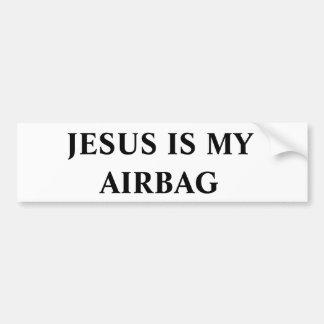 Jesús es mi saco hinchable pegatina de parachoque