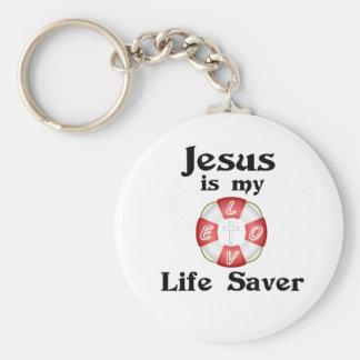 Jesús es mi salvador llavero redondo tipo pin