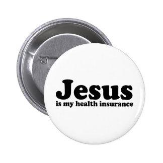 Jesús es mi seguro médico pins