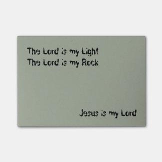 Jesús es mi señor Poste-it® Notes 4 x 3 Nota Post-it®