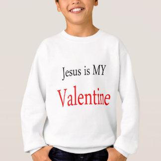 Jesús es mi tarjeta del día de San Valentín Sudadera
