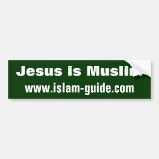 Jesús es musulmán pegatina para auto