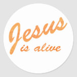 Jesús es naranja vivo del effet etiquetas redondas