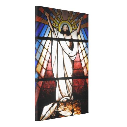 Jesús es nuestro salvador impresión en lona estirada