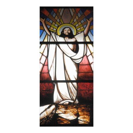 Jesús es nuestro salvador diseño de tarjeta publicitaria