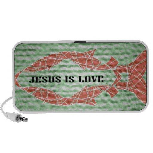 Jesús es pescado del amor laptop altavoz