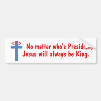 Jesús es rey pegatina para auto